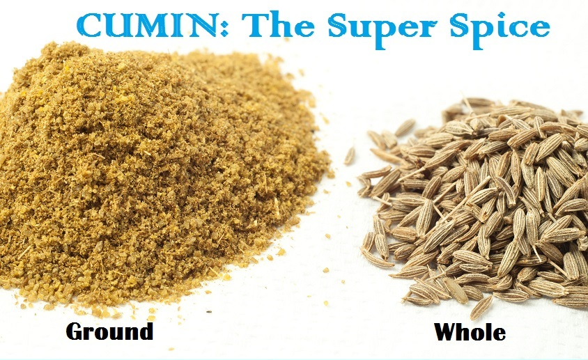 Whole and ground cumin