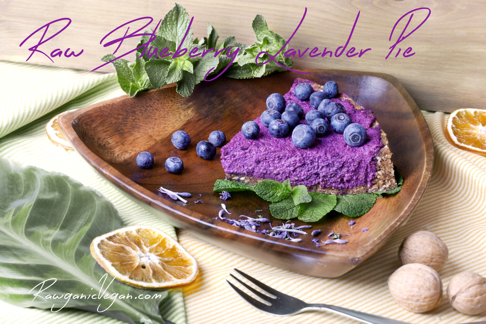 Raw Blueberry Lavender Pie